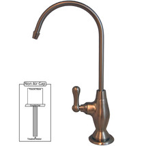 PURETECK Euro Style Non-Airgap Cane RO Faucet - Brushed Nickel - $59.00