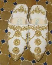Wedding slippers-White gold wedding slippers-White gold slippers -White ... - £32.71 GBP