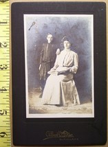 Cabinet Card Photo Beautiful Mom & Daughter! c.1900-20  - $4.80