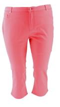 Isaac Mizrahi Icon Grace Crop Jeans Passion Fruit 20P NEW A254340 - $27.70