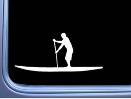 Paddleboard Man M133 8 Inch Sticker Decal camping hike kayak oar paddle board - $4.99