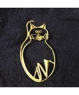 Large Quirky Cat Pin - $9.49