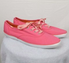 Keds Champion Classic Low top Pink Canvas Sneakers Flats Casual - Size 9.5 - $35.23 CAD