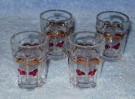 Mosser Glass Childs Miniature Cherry Thumb Print Tumbler Water Set - $19.95