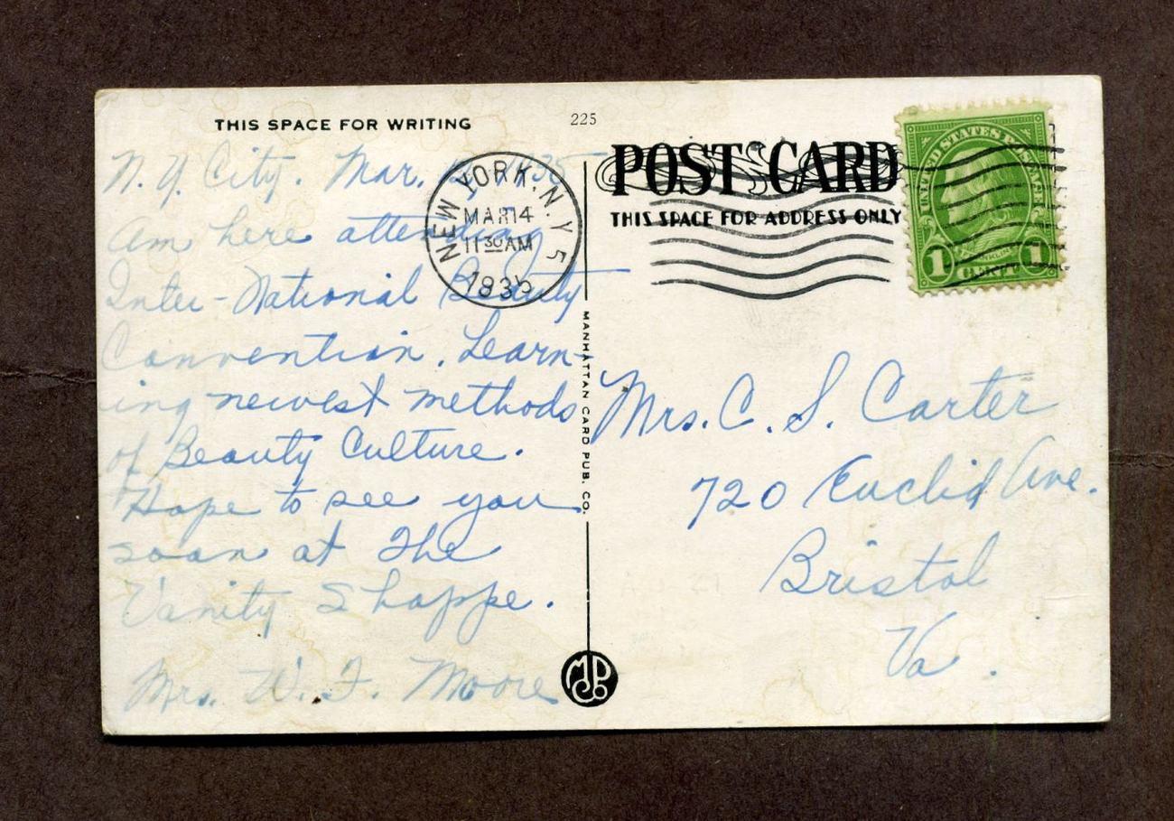 Vintage 1930s Linen Postcard Medical Center New York City NY