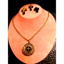 VTG. Gold REVERSIBLE Cross Necklace Lot - $26.73