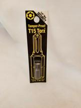 Best Way Tools  T15  Torx  Screwdriver Bit  1/4 in. Dia. x 1 in. 86778 - $5.89