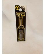 Best Way Tools  T15  Torx  Screwdriver Bit  1/4 in. Dia. x 1 in. 86778 - $5.89