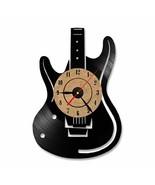 Electric Guitar Wall Clock Vinyl Record Rock Musical Instrument LED Ligh... - $43.26+