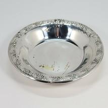 1950s Reed & Barton Classic Rose Design Bon Bon Candy Dish Bowl Silverpl... - $21.00
