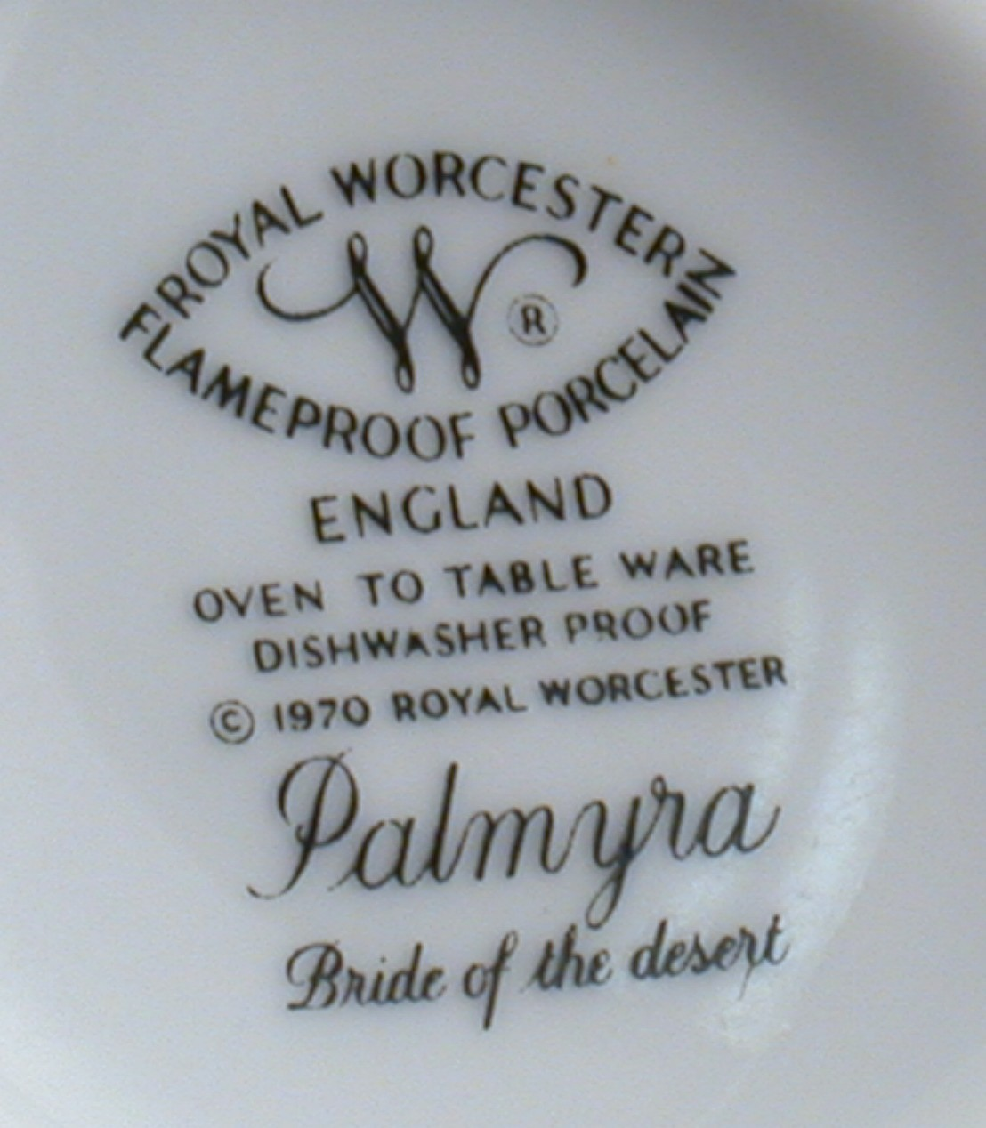 Royal Worcester Palmyra Cup Bride of the Desert