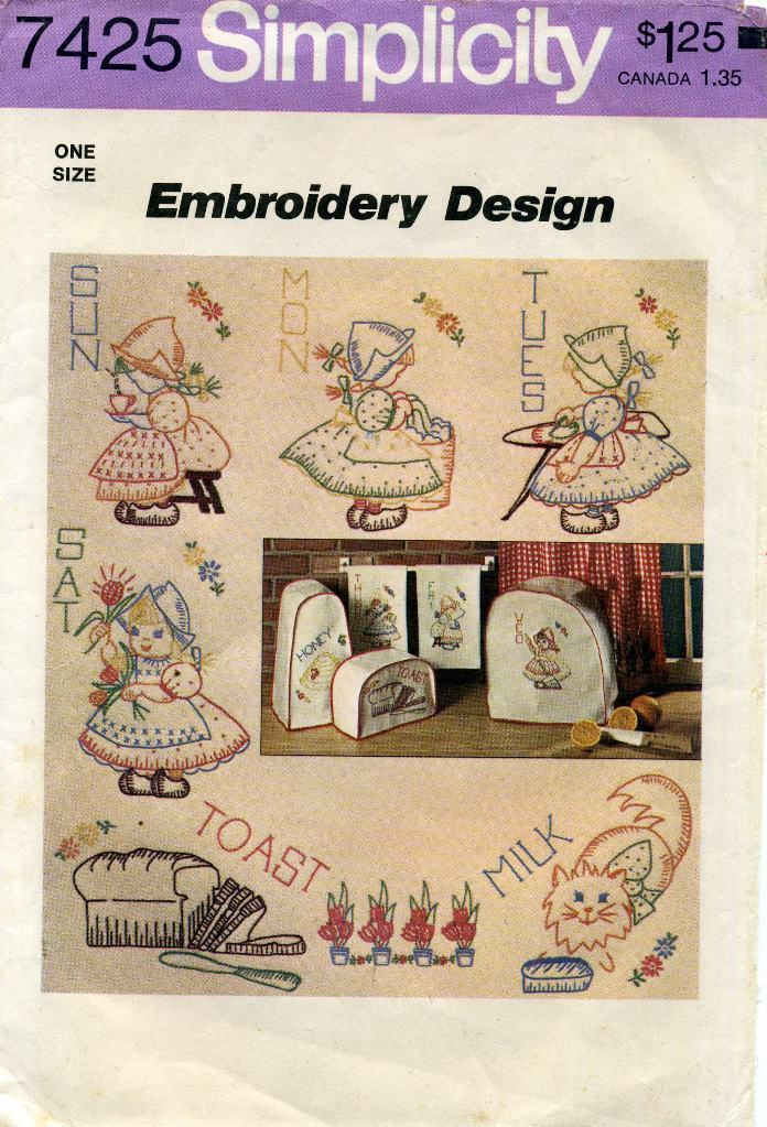 Embroidery Crafts Designs Transfer Patterns Children Animals Kitchen More