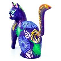 Handmade Alebrijes Oaxacan Copal Wood Carving Painted Cat Kitten Figurine image 2