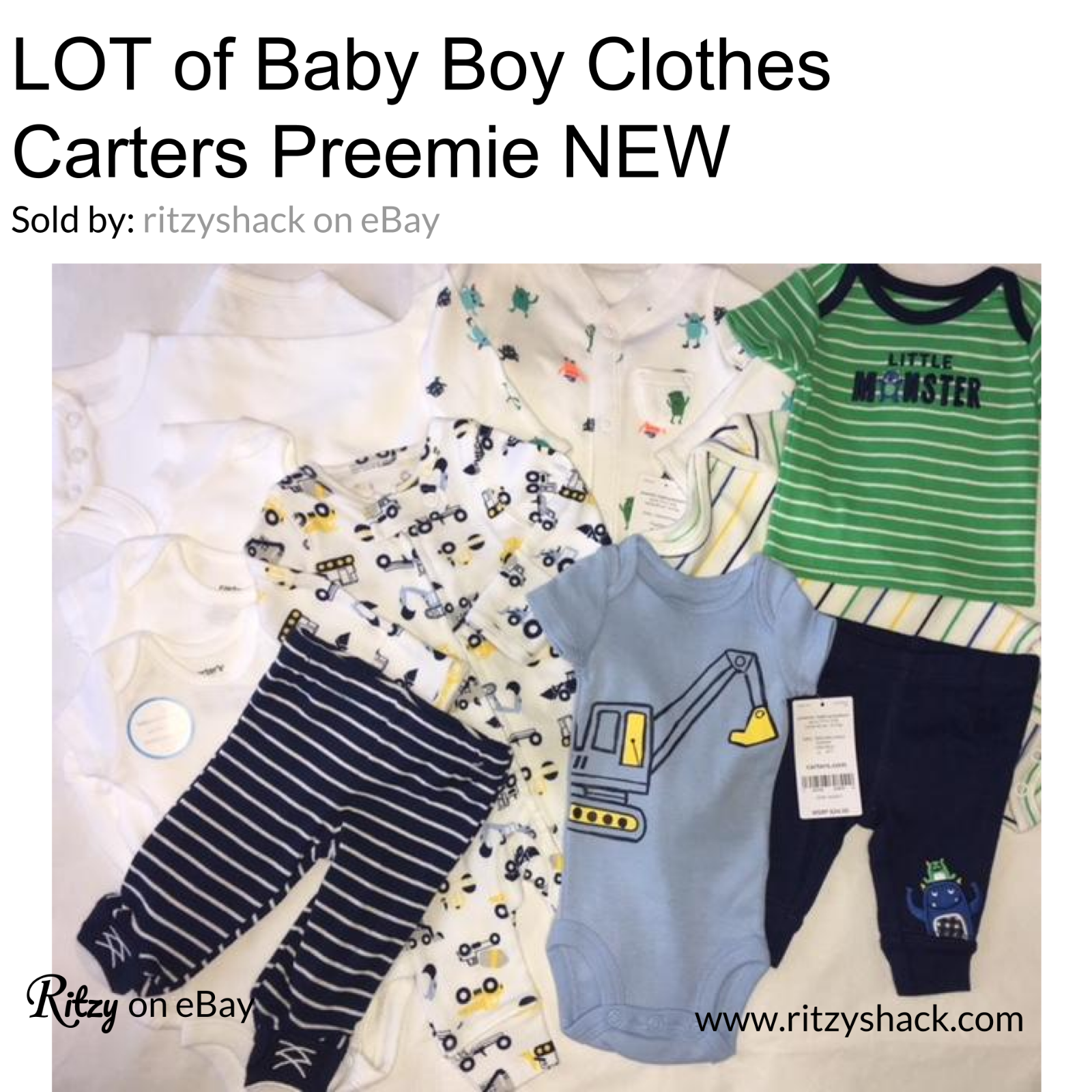 e0b4eae30 Carters Baby Boys Clothes Preemie Newborn and similar items. S l1600