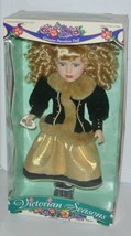 Victorian Seasons Collection Genuine Porcelain Doll Brass Key stand 17'' - $9.85