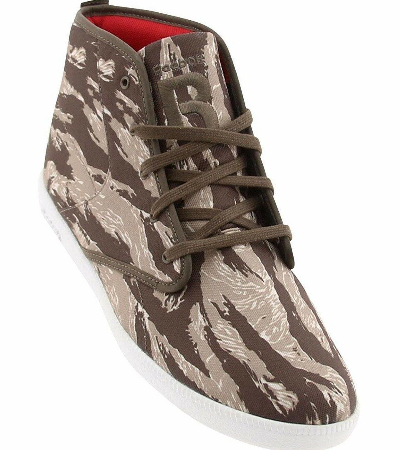 Reebok Men's The Berlín Chukka Marrón Tigre Camuflaje Hi Top Zapatillas 10.5 11