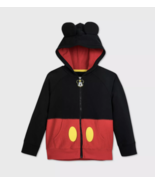 Disney Mickey Mouse Ears Zipper Hoodie With Pockets 4, 5-6, 7-8 NWT (P) - $23.99