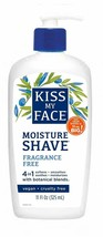 Kiss My Face Moisture Shave Fragrance Free 4 in 1 with Botanical Blends 11oz NEW - $16.83
