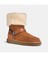NIB COACH Size 7 Women's Saddle Suede Shearling MOTO Boots, winter warm ... - $143.99