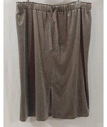 Mossimo Women's Velour Knee Length Skirt Color Taupe Size Large  - $13.09