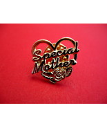 Special Mother Gold Heart Rose Souvenir Lapel Hat Pin - $5.99