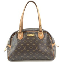 #32350 Louis Vuitton Montorgueil Zip Zipper Top Work Canvas Shoulder Bag - $600.00