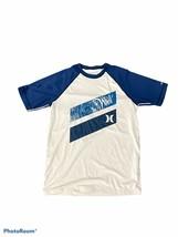 Hurley Boys Swim Shirt Blue Print Size Medium - $11.78