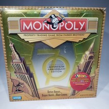 Monopoly 70th Anniversary Edition Tin Case New Open Box Complete Sealed ... - $45.95