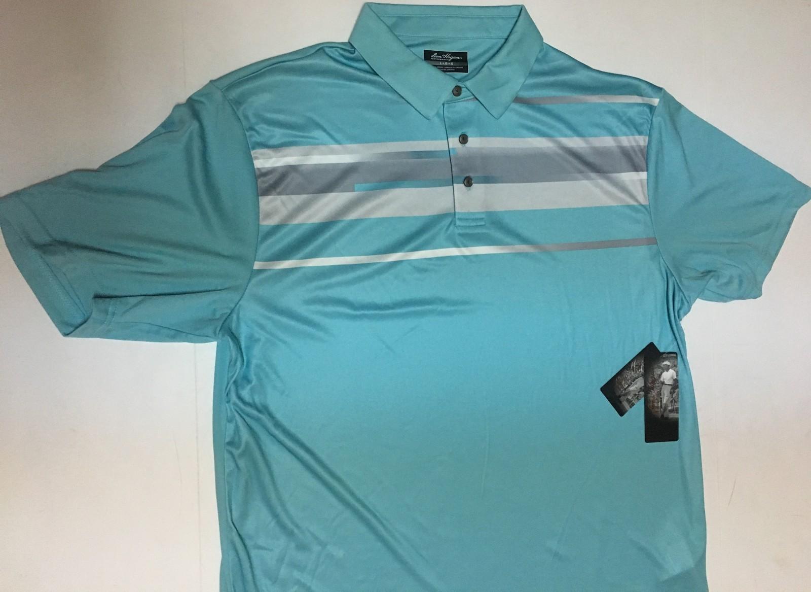 Ben Hogan Golf Performance Polo Shirt Aruba Blue Various Sizes