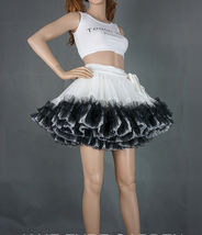 Women Girl Tiered Tutu Skirt Outfit Plus Size Puffy Party Tutu Skirt Blush Pink  image 9