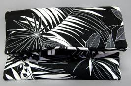 Jasmine Tropical Purse Handcrafted Handbag Chic Clutch Bag Black White - €55,09 EUR
