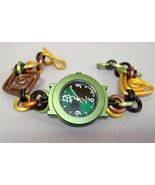 Forest Green Watch Round Faced Handcrafted Alum... - $114.00