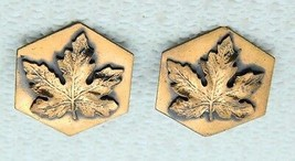 VTG Genuine Copper Maple Leaf Hexagon Clip Earrings - $19.80