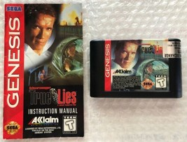 ☆ True Lies (Sega Genesis 1995) RARE AUTHENTIC Game & Manual Tested Works ☆ - $25.00