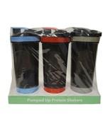 3 Pack Protein Supplement Shaker Bottle with Shaker Ball 24 OZ Vremi Brand - $19.79