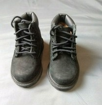 Timberlands Kids Boot Size 4 Month Girls Black Suede  - $6.93