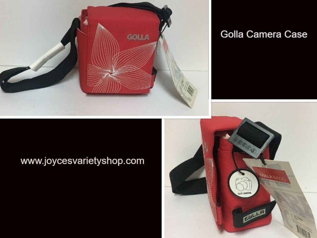 Golla red camera case web collage