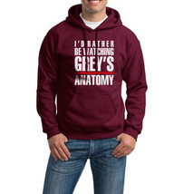 I'd Rather be Watching Grey's Anatomy | Unisex Hoodie S-3XL | MAROON - $31.00+