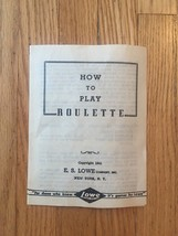 Vintage 1941 E.S. Lowe Roulette #907- complete and unused boxed set image 9