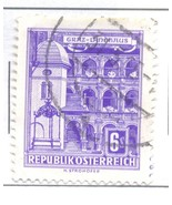 AUSTRIA USED STAMP 6S GALLERIES HOUSE A539 - £0.78 GBP