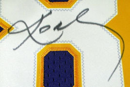 KOBE BRYANT / AUTOGRAPHED LOS ANGELES LAKERS THROWBACK BASKETBALL JERSEY / LOA image 4