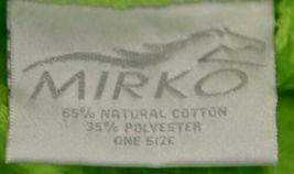 Mirko Thigh Length Waffle Weave Kimono Robe One Size Lime Green image 3