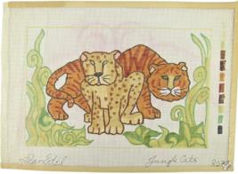 "Vintage 70's Jean Etiel Palm Beach Hand Painted Needlepoint ""803 Jungle ... - $28.35"