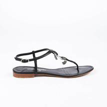 Chanel Leather CC Thong Sandals SZ 40 - £383.27 GBP