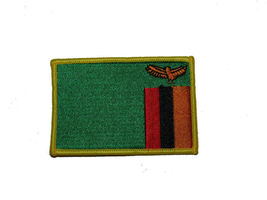 Zambia Country Iron On Patch Wholesale lot of 3 - $22.00