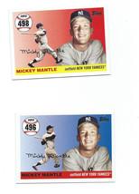 2007 Topps Update Mickey Mantle Hr Home Run History (401-499) Pick 1 Lot Hof #2 - $9.49