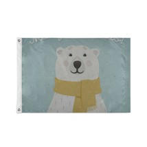 Custom Decor Flags Baby Winter Cartoon Decorative Bear Decorate Flags - $24.99