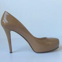 Kate Spade Womens Patent Leather Platform Pumps 10B Natural Color  - $30.86