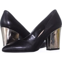 Nine West Scheila Classic Pumps 581, Black Leather, 6 US - $29.75