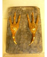 Natural History Curiosity Plaster Cast of Extra Large Bird Claws Circa 1930 - $495.00